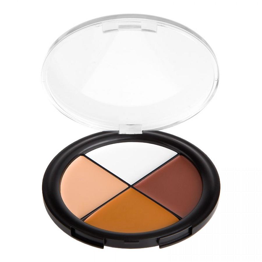 Beautiful 4 Color Concealer Palette Camo Quad Dark skin tones 3#(China (Mainland))