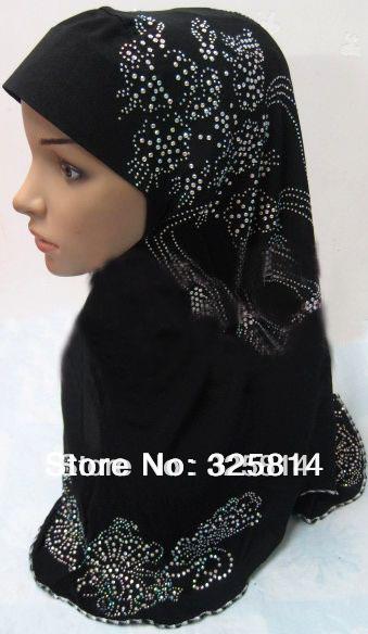 Wholesales Fashion rhinestone design cotton solid color multicolor muslim hijab,islamic headgear,Muslim scarf, free shipping