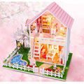 NEW DIY Wood Doll House Cherry Trees Dollhouse New Style Miniature Kits Assembling Toys for Kid