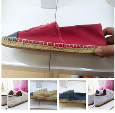 2015 summer style Fashion Classic Brand Designer Women Canvas shoes Rope Soled Espadrilles Flats Loafers Shoes Plus Size 35-42 - jason liang's store