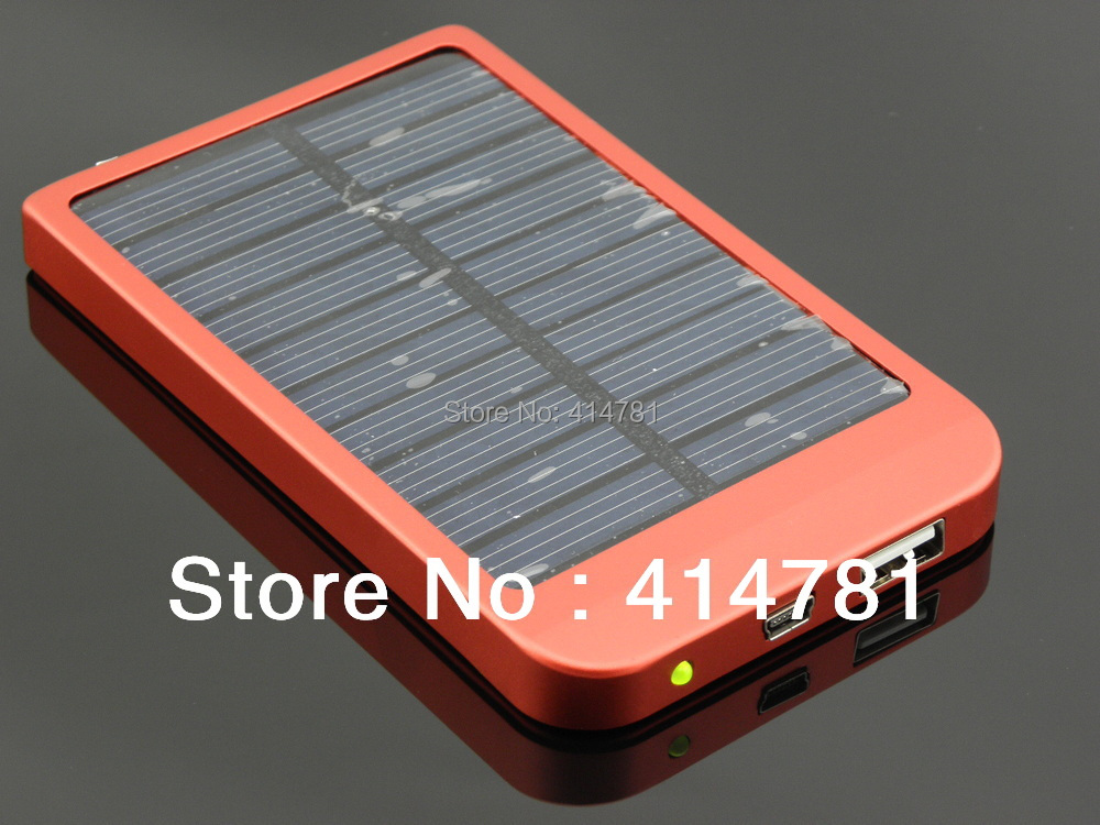 High free shipping quality 2600mAh Solar Power bank Solar charger Conversion head 5 + adapter With Retail Package(China (Mainland))