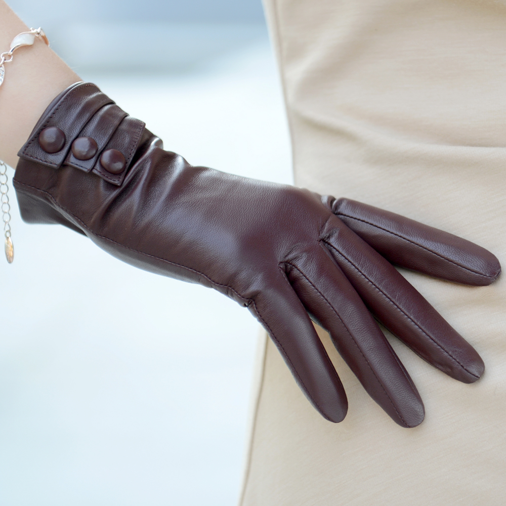 leather gloves female genuine winter thermal women sheepskin glove - Better PPE Products Co.,Limited store