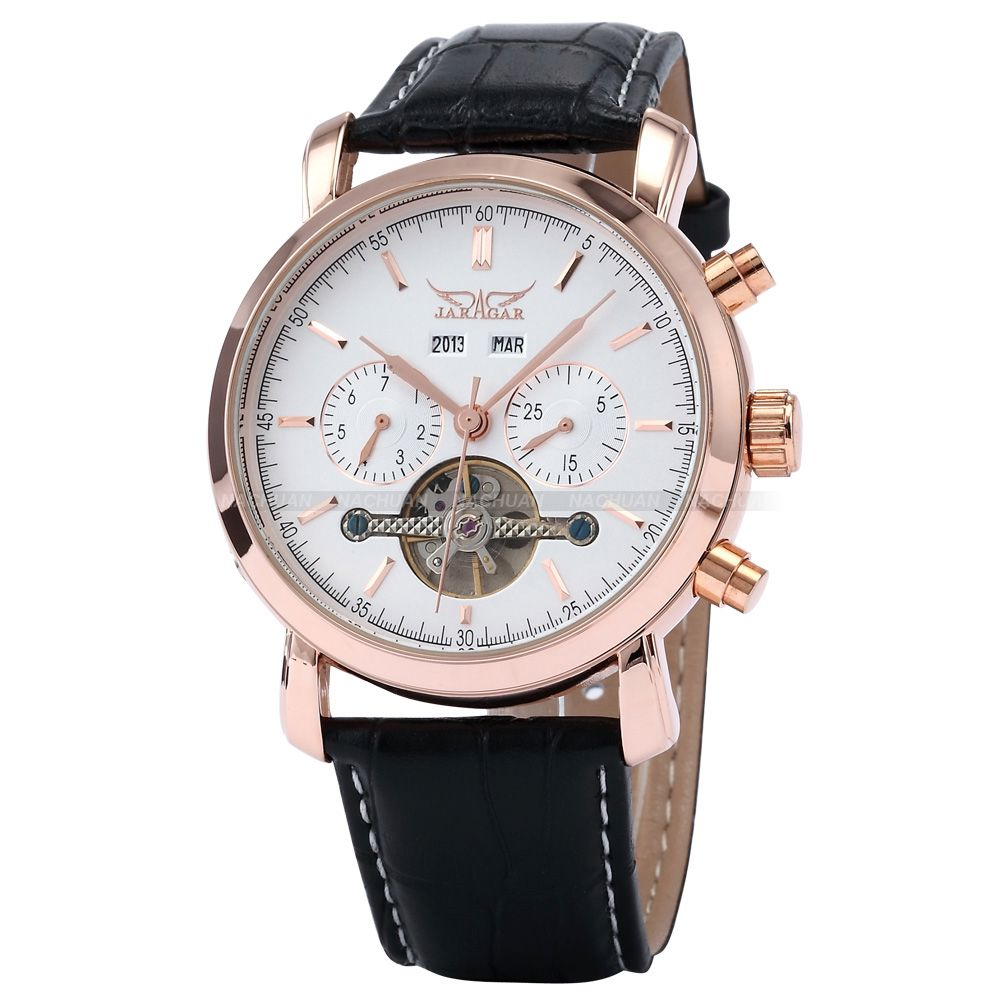 2015 JARAGAR Fashion Watches Tourbillon Man Day/Week/Year ...