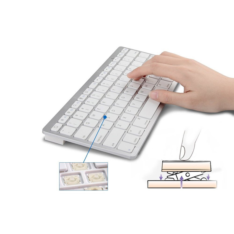 Ultra-slim Wireless Keyboard Bluetooth 3.0 For Apple iPad/iPhone Series/Mac Book/Samsung Phones/PC Computer HB88(China (Mainland))