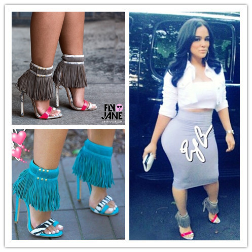 New Hot Fashion Emilyb Fetish Addict Dope Fringle Gladiator Strappy Women Sandals Boots High Heels Summer Style Shoes Woman(China (Mainland))