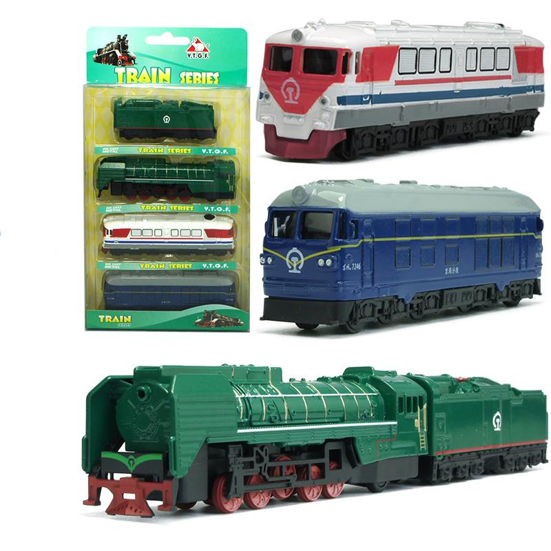 Model Kit Set Pull Back metal Steam Train Series Train Kids Toy 1/64 Transportation Christmas gift boy Locomotive YD GOOD FRIEND(China (Mainland))