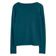 Вязанный топ с вырезом лодочкой для женщин, с вырезом лодочкой, Однотонный свитер, пуловеры(China)