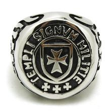Mens Boy 316L Stainless Steel  Punk Gohtic Flaming Cross Biker Newest Ring