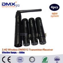 DHL Free Shipping Wireless DMX 1 sender 3 receiver(China (Mainland))