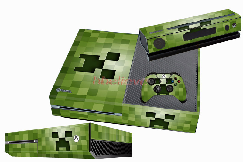 Book Cover Handmade Xbox One ~ Green custom game sticker cover free shipping for xbox one