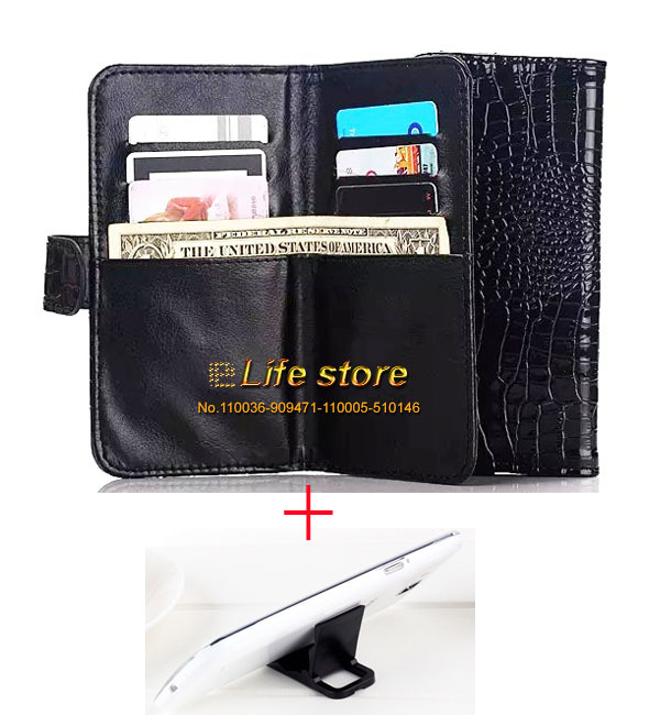 Lady Hand Phone Case Crocodile Leather Case Wallet Card Case+ 2 Phone Stand + Strap For LG G4 Stylus LS770, G4 Note,G stylo CDMA(China (Mainland))