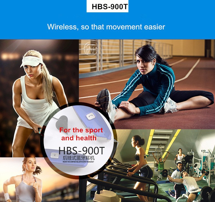 Wireless Bluetooth Music Headset For Running HBS-900T Bests Mini Portable Sport Mp3 Earphones Stereo Support TF Card+FM Radio  (22)