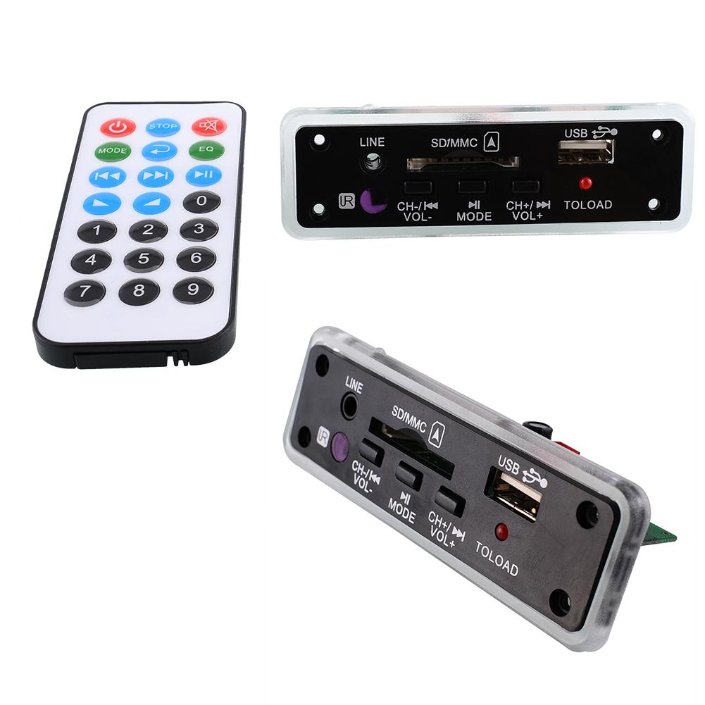 Car Amplifier 12V Car Auto Truck USB TF MP3 WAV Music Audio Decode Board Practical Remote Module HiFi Amplifier Black(China (Mainland))