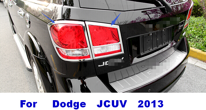 2013 journey jcuv Exterior Accessories ABS Chrome brake light rear tail lights covers trim frame decoration<br><br>Aliexpress