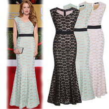 Women s Formal Business Lace Floral Long Dresses Gown Party Wedding Sleeveless Maxi Dresses