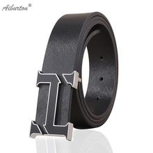 Buy 2016 Fashion Man Belt Brand Leather h buckle designer belts men high Style luxury white black 125cm cinturones hombre for $9.85 in AliExpress store