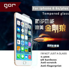 gor for apple iphone 6 tempered glass 9H 0.3mm tempered glass screen protector protective film for iphone 6 6s plus 5.5