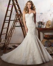 Buy Dreagel Fashion Strapless Mermaid Wedding Dress 2017 Gorgeous Appliques Beaded Court Train Trumpet Wedding Gown Vestido de Noiva for $203.99 in AliExpress store