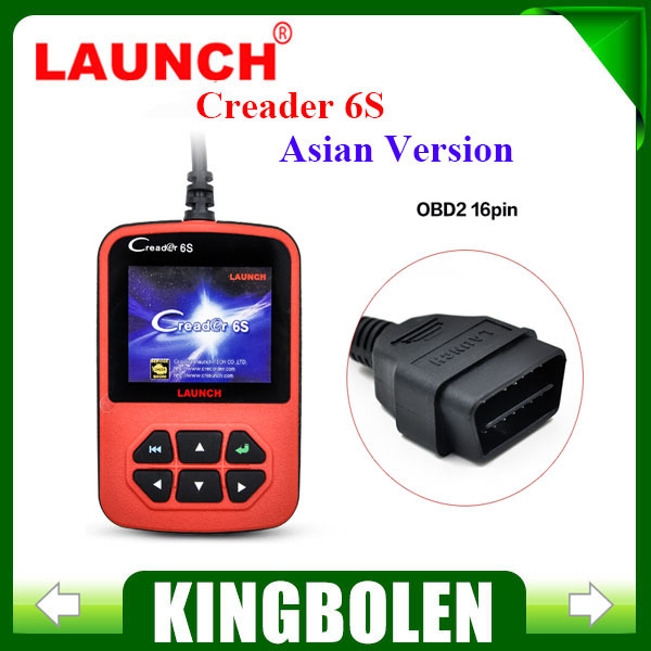 2015 Free Shipping OBD2 Scanner Original Launch X431 Creader VI Plus Code Reader Update On Official Website Launch Creader 6S(China (Mainland))