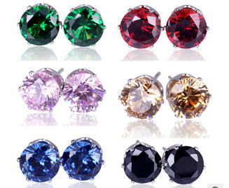 2015 hot brand jewelry 14 color luxury austrian crystal earrings for women stud earrings Christmas gift(China (Mainland))