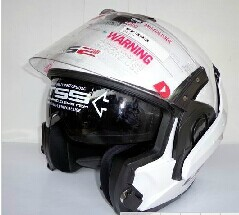 Free shipping counters authentic motorcycle helmet LS2 FF393 / Dual Lens / mortgage visor / multifunction helmet White(China (Mainland))