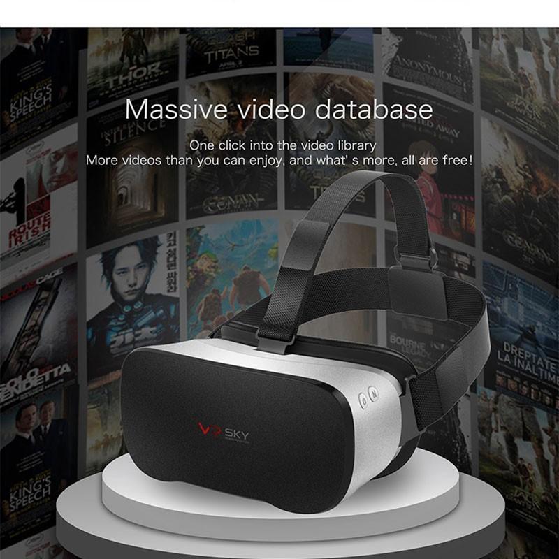 ถูก Googleกระดาษแข็งvr sky all-in-one vrกล่องallwinner h8เสมือนความเป็นจริงแว่นตา3D WiFi BT4.0 VRชุดหูฟังนิ้ว5.5สำหรับมาร์ทโฟน