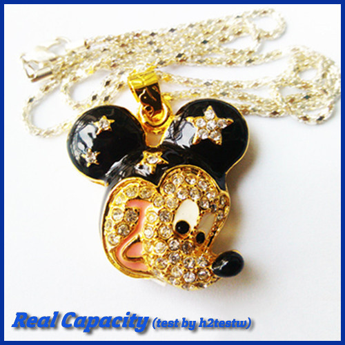 free shipping flash memory pen drive mini jewelry usb flash drive mickey mouse head pendrive 16gb usb stick 4gb 8gb 16gb 32gb(China (Mainland))