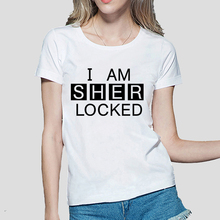 Buy 2016 Am SHER Locked print women tshirt Sherlock Holmes funny cotton casual tops tees fashion harajuku brand punk t-shirt femme for $4.37 in AliExpress store