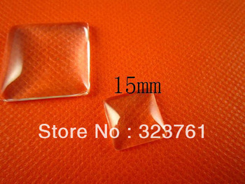 free shipping!!! 1000pcs 15mm glass cabochon square domed glass<br><br>Aliexpress