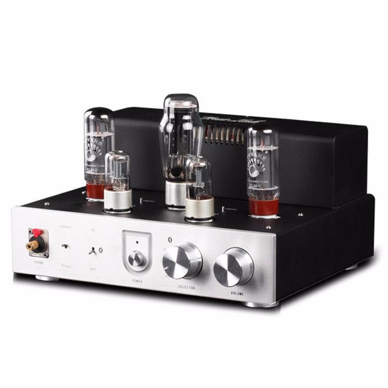 2017 New Douk Audio Integrated Bluetooth 4.0 PASVANE EL34 Vacuum Tube Audio Amplifier HiFi Stereo Headphone Amp