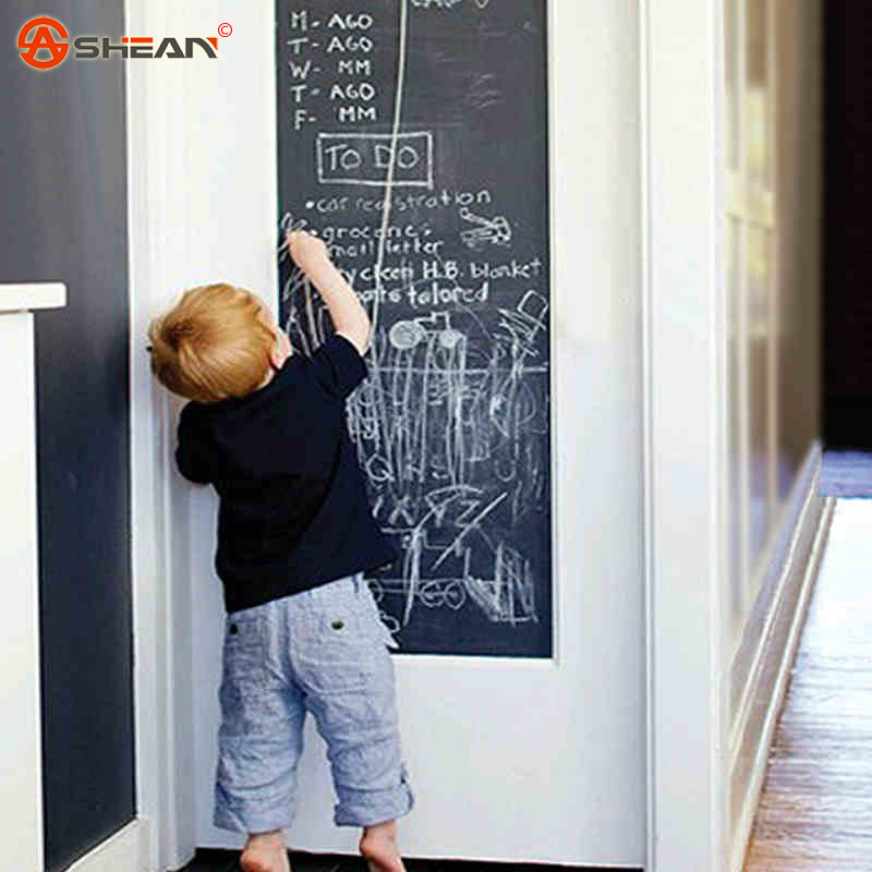 45x200cm Chalk Board Blackboard Stickers Removable Vinyl Draw Decor Mural Decals Art Chalkboard Wall Sticker for Kids Rooms(China (Mainland))