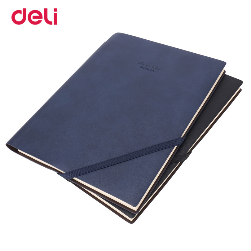 Deli 2017 Fashion Stationary Business Pen notebooks for students Creative High Quality blue black Notebook rope bookmark a diaty(China (Mainland))