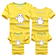 1pc Baymax Colors New Family Matching Outfits T-shirt Clothes For Dad Mon Daughter and Son Summer Father Son Suits Top Clothing