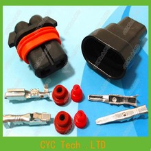 5 sets 2.8mm 9005-2pin HID BALLAST,Auto head lamp plug,Car Waterproof Electrical connector kits for BMW Audi etc.(China (Mainland))