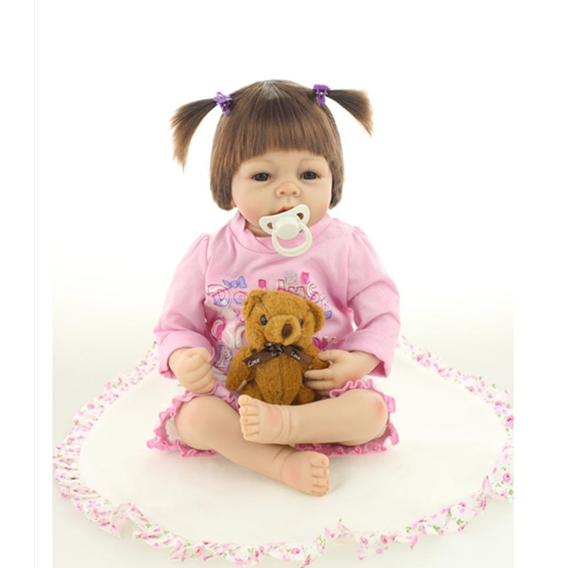 Simulation Reborn Baby Dolls 50 cm/20 Inch,Lovely Vinyl Doll Silicone Baby Dolls Training Toy Free Shipping(China (Mainland))