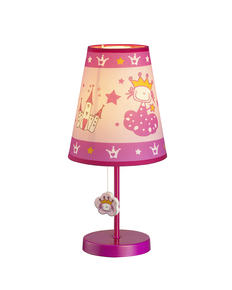 Kids Lamps Princess Castle Theme Table Lamp Children