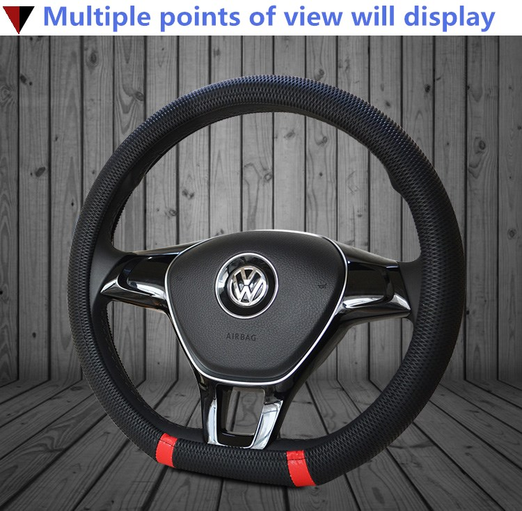 New D Shape Steering Wheel Cover Breathable Automotive Car Sport