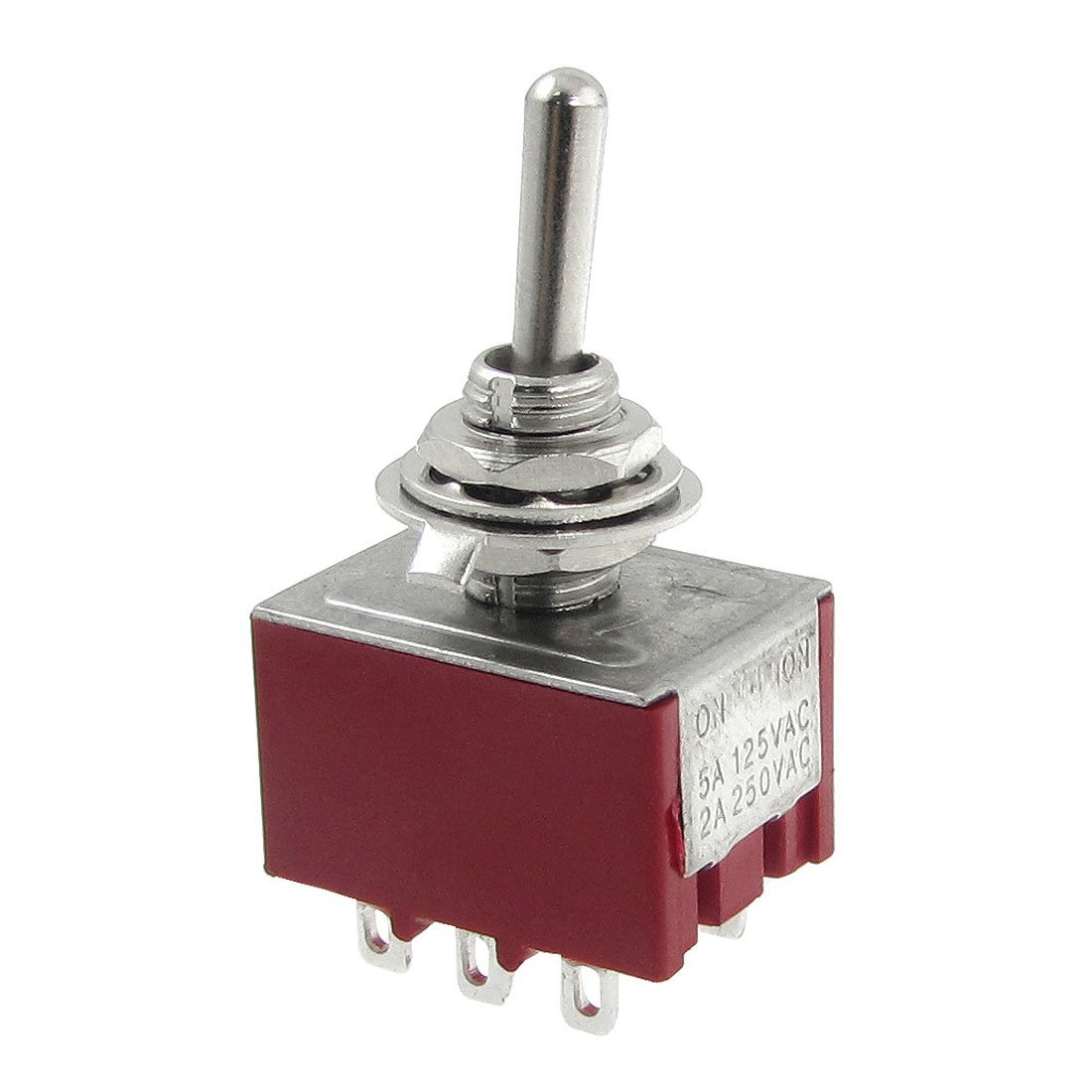 Shopping Time AC 250V 2A 125V 5A ON ON 2 Position 3PDT Toggle Switch