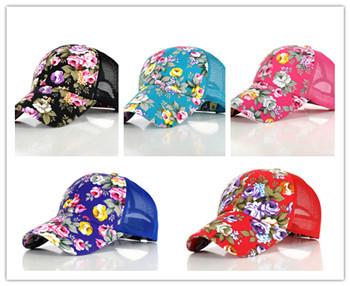 2015 New Baseball Hats For Women Sunshade Gorras Vintage Floral Rose Bone Snapback Caps Hip hopSummer Planas Flower Hip Hop Hat(China (Mainland))
