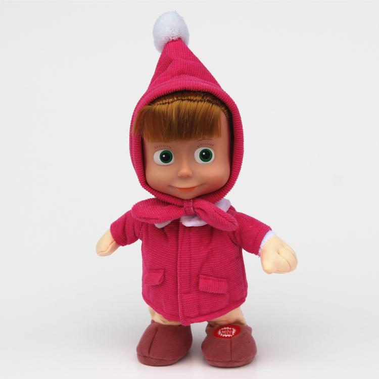 New Arrival Masha and Bear plush Dolls Baby Children Best Stuffed masha Plush Animals toys In-stock(China (Mainland))