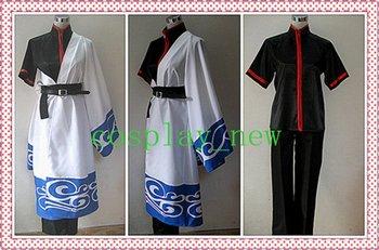 Gintama Gintoki Sakata Cosplay Costume w  belt