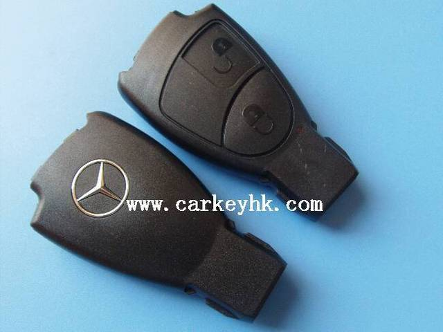 20pcs/lot  Benz 2 button smart remote control key case shell blank cover fob with logo