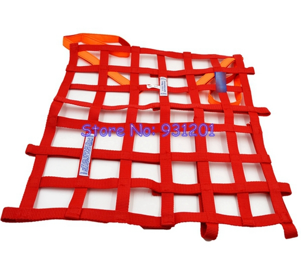 """Free Shipping Red/Blue (Approx 20""""x17"""") FIA Approved Safety Window Net Racing Drifting Rally Car Window Net()"""