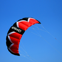 3Sqm Quad Line Parafoil Parachute Kite / Traction Kite KITESURFING with 55CM Bar + Flying Line In Red(China (Mainland))