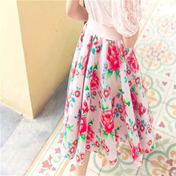 2015 Kids Girls Print Floral Maxi Skirts Baby Girl Summer Cotton TuTu Princess Skirt Childrenu0026#39;s ...