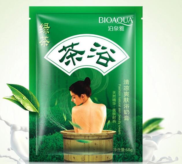 Green Tea Refreshing Toning cream milk bath shower gel free shipping deep cleansing exfoliating Whitening network burst models(China (Mainland))