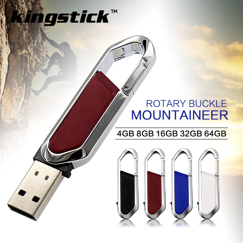 Stainless Style pen drive 64gb 32gb metal swivel memory stick 4gb 8gb 16gb U disk gift USB flash pendrive - Victoryday2015 store