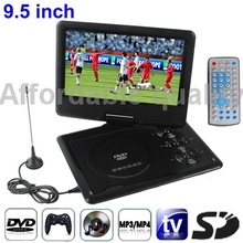 9.5 inch TFT LCD Screen Digital Multimedia Portable DVD with Card Reader   USB Port,  TV (PAL / NTSC / SECAM)   Game Function(China (Mainland))