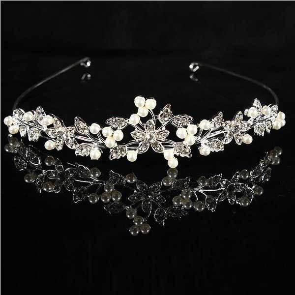 BidLook Metal Crystle Flower Wedding Bridal Tiara Alloy Prom Party Head Band(China (Mainland))