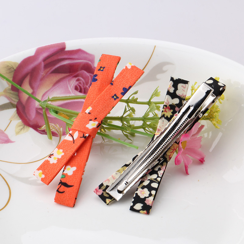 Hot Sale Fashion Girls Hair Clips Women Flower Styles Long Barrettes Hair Accessories Children Big Bow Cloth Bowknot Hairpins(China (Mainland))